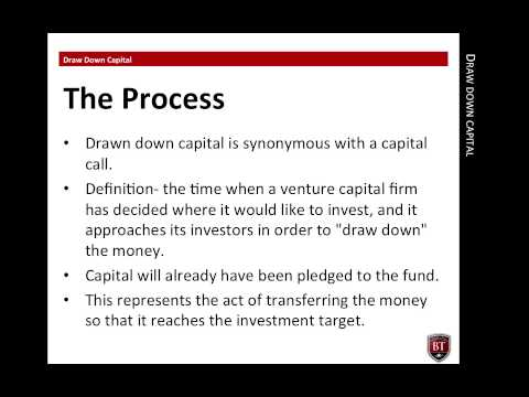 Draw Down Capital - Private Equity