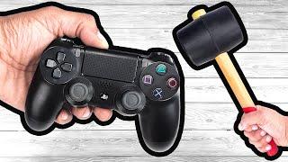 25 WAYS To Bręak A PS4 Controller 🎮 🔨