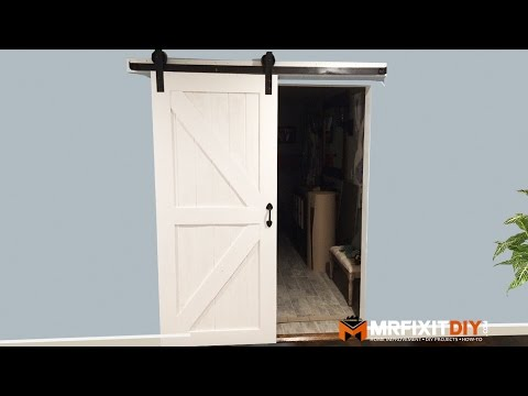 how to build a sliding barn door video