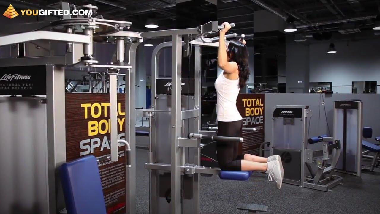 Фитнес. Упражнения для спины. Подтягивания.