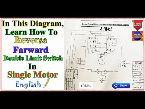 3 Phase Motor Reverse Forward Limit Switches Control Diagram In English Youtube