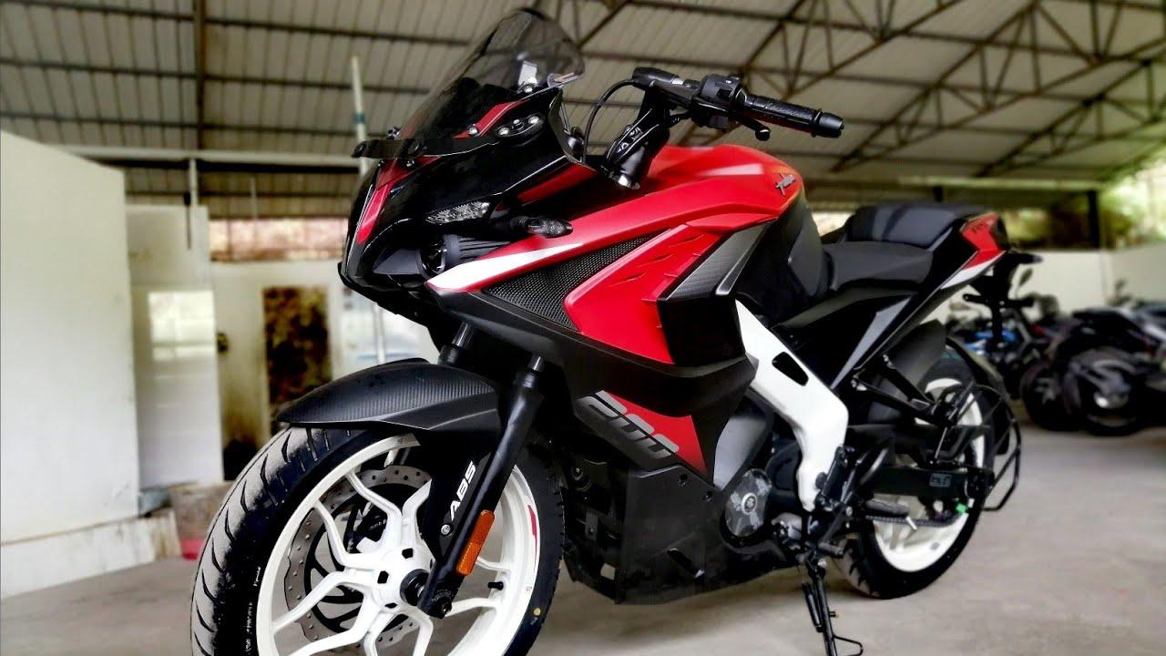 Bajaj Pulsar Rs200 Burnt Red New Colour Walkaround Review 2021 Bajaj Pulsar Rs200 Price Youtube