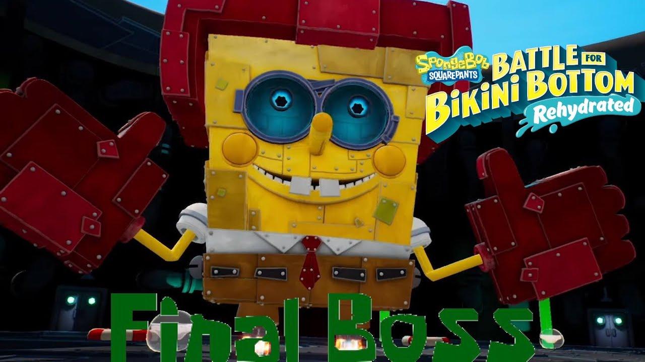 SpongeBob SquarePants BFBB Rehydrated: Spongebot Steelpants Final Boss (100% Ending)