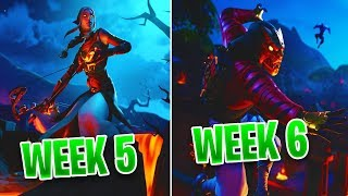 Week 5 & 6 LOADING SCREENS - FORTNITE Season 8 (Secret Banner & Battle Star)