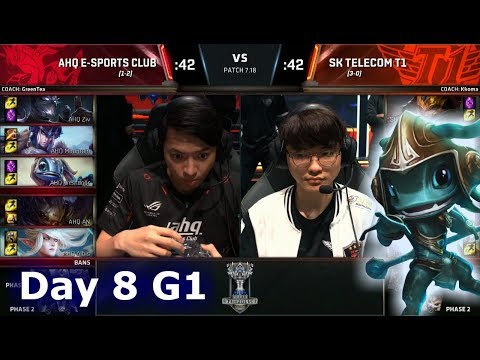 ahq e-Sports vs SK Telecom T1   Day 8 Main Group Stage S7 LoL Worlds 2017   AHQ vs SKT G2