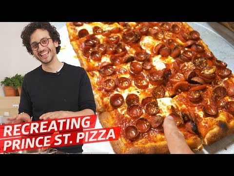 Making the Legendary Prince St. Pizza Square Slice with Pizzaiolo Dom Morano — Alex VS.