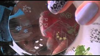 Testing Acrylic Paint W nail polish stamping plates