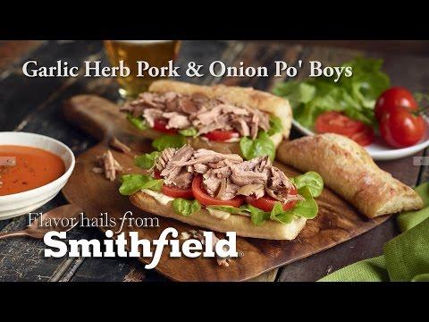 smithfield-garlic-herb-pork-and-onion-po-boys
