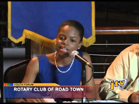 PRESS ROTARY CLUB OF ROADTOWN YOUTH FORUM   25 SEPTEMBER 2013