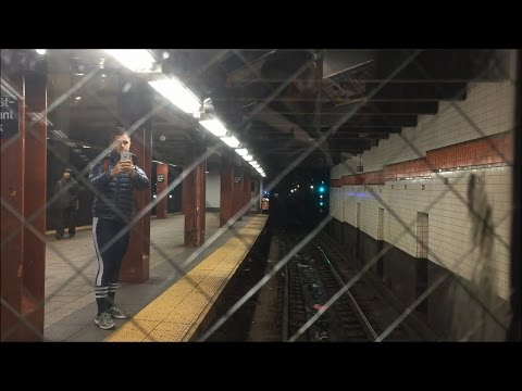 NYC Subway HD: Holiday Nostalgia Shoppers' Special Train (Arnines) Southbound Railfan (12/21/14)