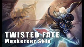 League of Legends: Musketeer Twisted Fate Skin Artwork
