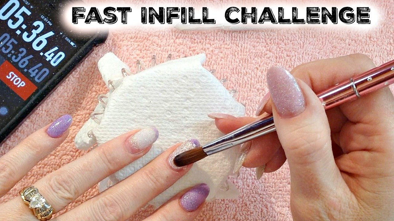 Real Time Acrylic Nails Fast Infill Fill In Challenge By Naio Accepted Fastinfillchallenge