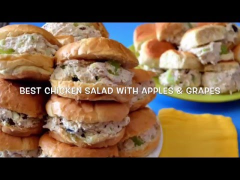 How To Make Chicken Salad With Apples Grapes - Video