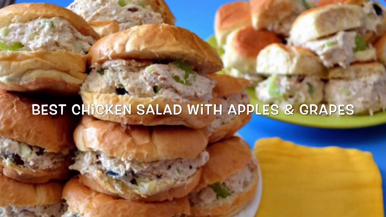 How To Make Chicken Salad With Apples Grapes Video