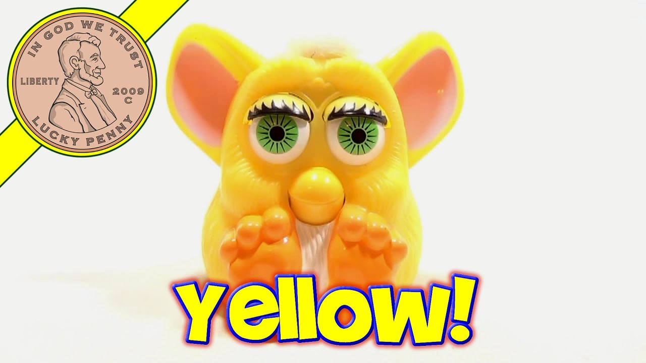 1998 Furby McDonald's Happy Meal Toy - Yellow with Green ...