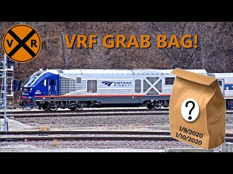 VIRTUAL RAILFAN TWO DAY GRAB BAG! 16 MINUTES OF TRAIN ACTION.