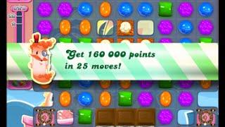 Candy Crush Saga Level 1544 walkthrough (no boosters)