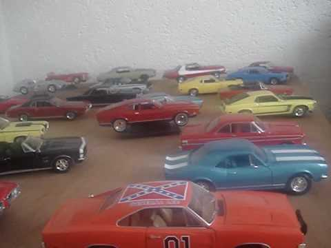 Mi Coleccion Autos Escala 1 18 Muscle Cars Youtube