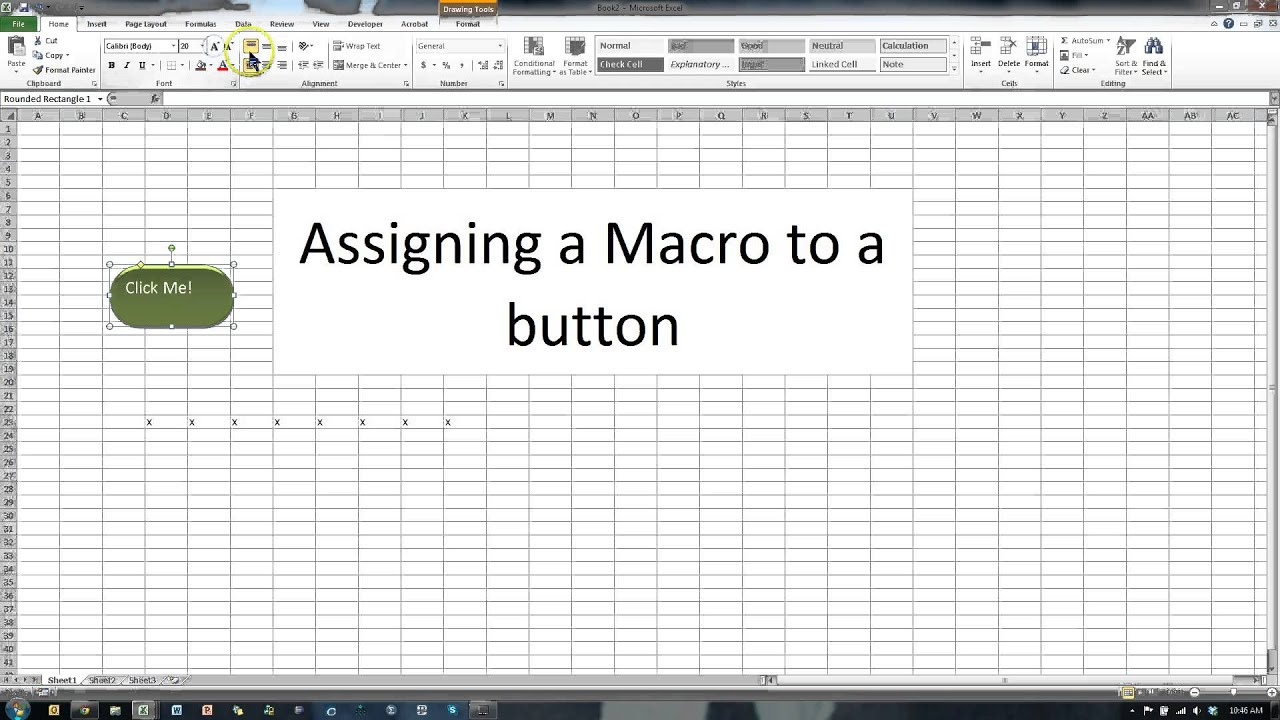 Assign A Macro To A Picture In Excel