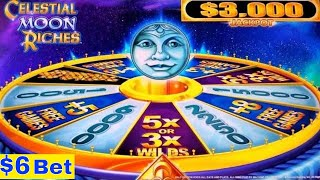 Video ★♥New Konami Slot♥★Celestial Moon Riches Slot Machine $6 Bet Bonuses Won ! First Attempt/Live Play download MP3, 3GP, MP4, WEBM, AVI, FLV September 2018