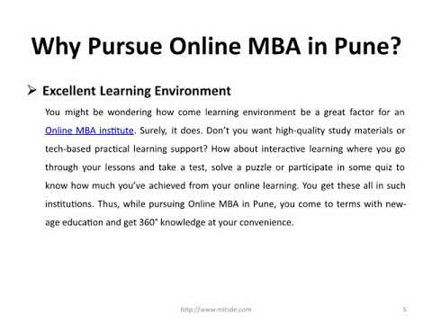 Why Pursue Online MBA in Pune