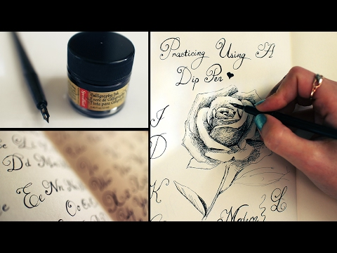 Ink drawing, Calligraphy, 1st time using a dip pen | Sketchbook Sunday #25