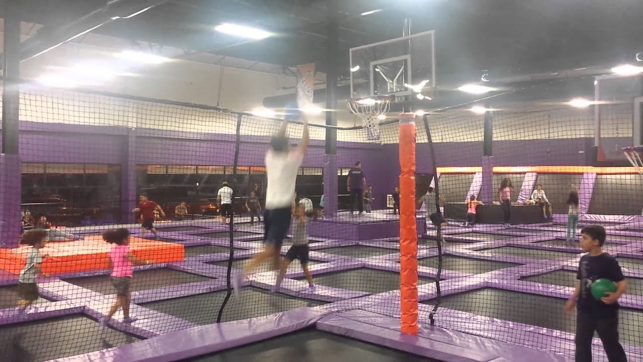 altitude trampoline park basketball youtube