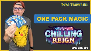 Pokémon Sword & Shield Chilling Reign One Pack Magic or Not, Episode 09 #Shorts