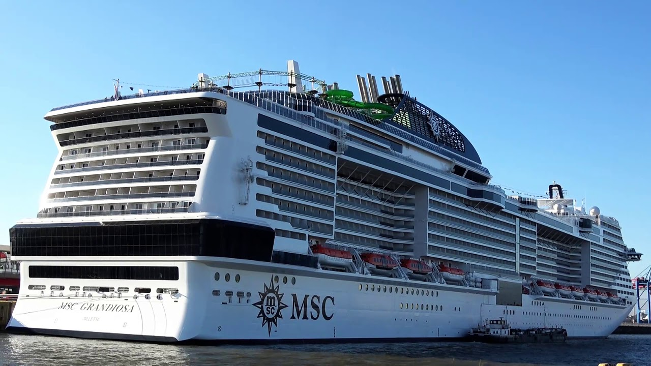 MSC GRANDIOSA - the newest MSC cruise ship - YouTube