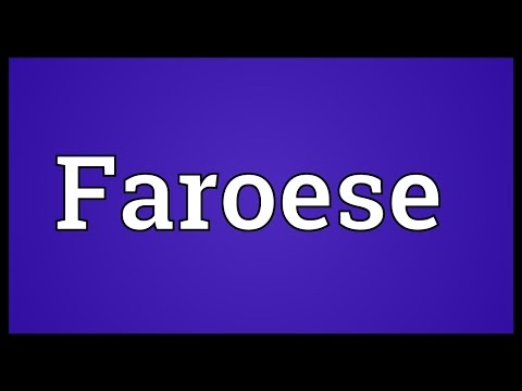 Faroese Meaning