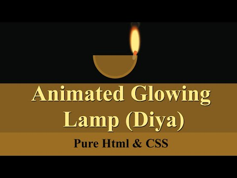 Happy Diwali, Animated Lamp Using HTML & CSS Only