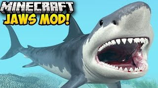 Minecraft Mods: JAWS MOD! (KILLER SHARKS, SHARKS ATTACK IN MINECRAFT) (Minecraft Mod Showcase)