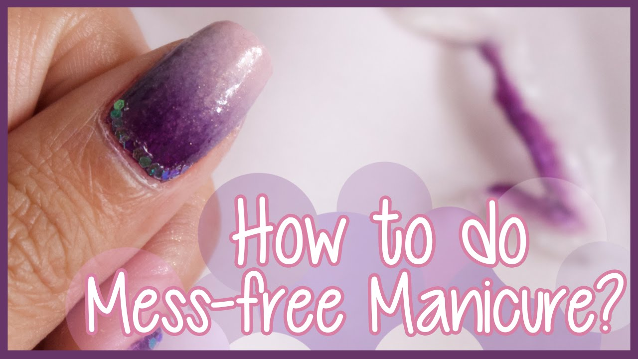 Quick Tip! Mess-free Nail Art (for Ombre, Water Marble, etc) | DIY ...