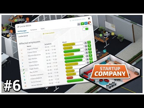 Startup Company [Early Access] - #6 - HR Department - Let's Play / Gameplay / Construction