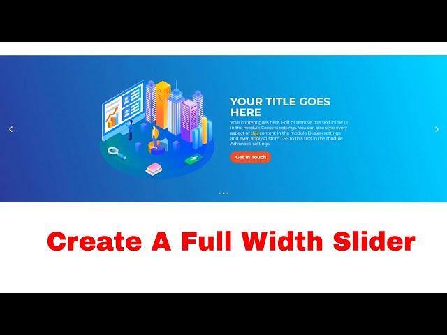 Divi Slider | How To Create A Full Width Slider With Divi  Slider Module