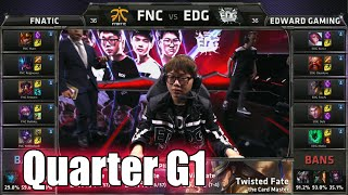 Fnatic vs Edward Gaming | Game 1 Quarter Finals LoL S5 World Championship 2015 | FNC vs EDG G1