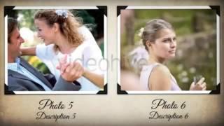 Слайдшоу в стиле свадебного винтажного альбома