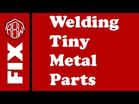 FIX: Welding Tiny Metal Parts (Laptop Hinge Repair)