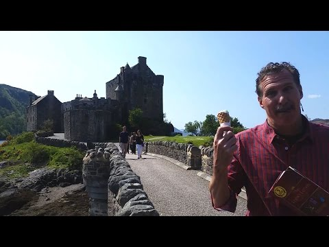 Carew's Adventures in Scotland--the Famous Eilean Donan Castle with Nordic Visitor!