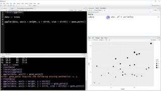 R Tutorial - 013 - so erstellen Sie ein Streudiagramm in ggplot2