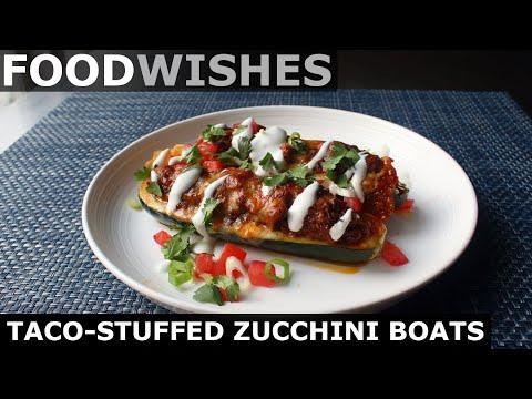 Taco Stuffed Zucchini Boats Food Wishes