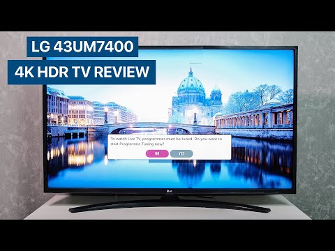 LG 43UM7400 2019 4K HDR TV Unboxing and first setup