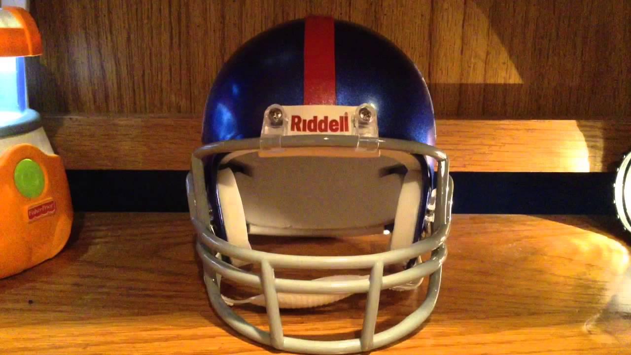 a33b42851d6 NFL New York Giants Mini Replica Helmet Review - YouTube