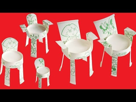 Paper Cup Craft   How To Make Paper Cup Chair   Disposable Paper Cup Chairs