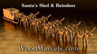 Santa's Sled And Reindeer: 3d Assembly Animation (720hd)
