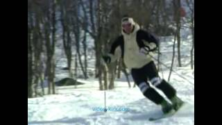 Школа горных лыж  Урок 9  Катание по буграм, глубокому снегу и целине HD