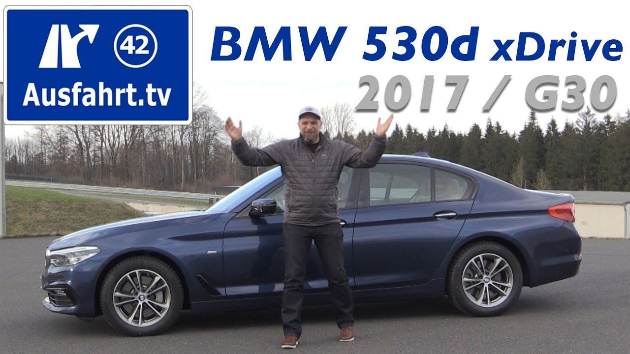 2017 Bmw 530d Xdrive Limousine G30 Fahrbericht Test Probefahrt