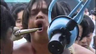 Fail Compilation Face Piercing Table Lamps Bizarre Phuket Chinese Vegetarian Festival Thailand