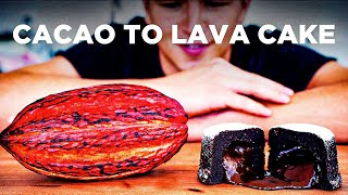 CHOCOLATE LAVA CAKE FROM A CACAO POD