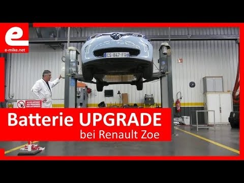 batterie upgrade bei renault zoe e youtube. Black Bedroom Furniture Sets. Home Design Ideas